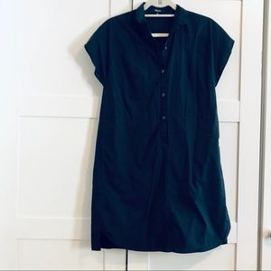 MADEWELL cotton shift dress navy blue S